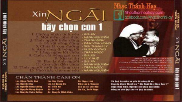 Album Thánh Ca Xin Ngài Hãy Chọn Con Vol 1 - Thiên Hương